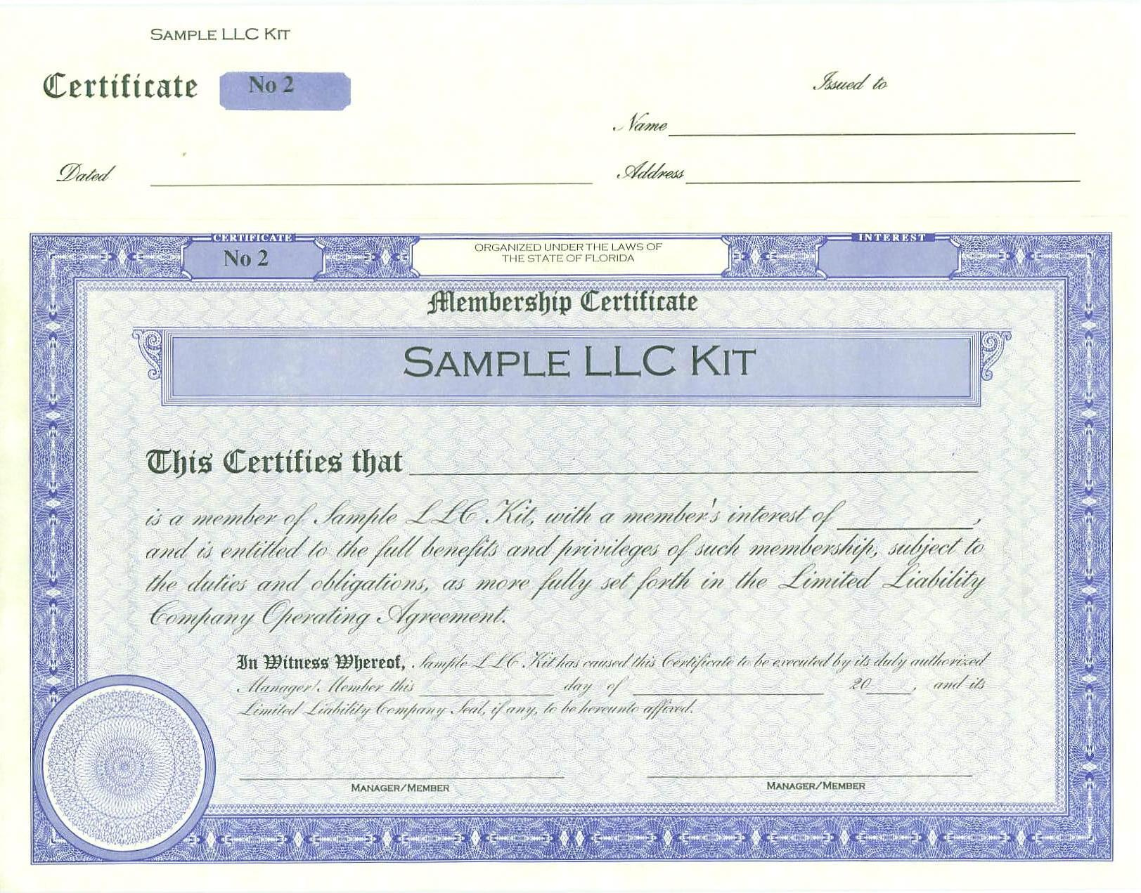 If Not Specified Then Blue Stock Or Membership Certificates Will Be Sent
